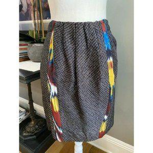 Dries Van Noten 100% Silk Knee Length Skirt EUC 4